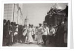 The Russian royal family visiting Sarov Monastery, Russia, 1903 by K von Hahn