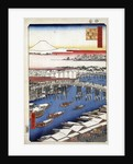 Clearing Weather after Snow at Nihon Bridge, (One Hundred Famous Views of Edo) by Utagawa Hiroshige
