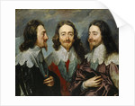 Charles I, King of England  (1600-1649), from Three Angles (The Triple Portrait), 1636. by Anonymous