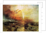 The Slave Ship (Slavers Throwing overboard the Dead and Dying, Typhon Coming On) by Joseph Mallord William Turner
