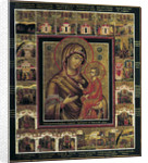 The Virgin of Tikhvin with Border Scenes, first quarter of 19th century by Anonymous