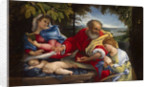 Rest on the Flight into Egypt with Saint Justina, 1529 by Anonymous