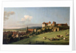 View of Pirna from the Sonnenstein Castle, 1750s by Anonymous