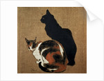 Two Cats by Theophile Alexandre Steinlen