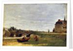 Landscape with a Bridge, early 1870s by Stanislas Lepine