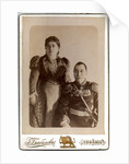 Portrait of Count Nikolay Vasilyevich Bebutov with wife Countess Magdalena Dadiani, 1895 by Anonymous