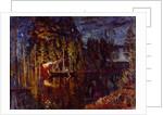 Night spear fishing in spring, 1916 by Stanislav Yulianovich Zhukovsky