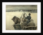 On the Road to Yasnaya Polyana, 1903 by Leonid Osipovich Pasternak