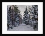 Tracks in the Snow, 1928 by Stanislav Yulianovich Zhukovsky