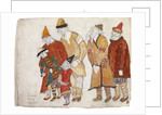 Peoples. Costume design for the opera Prince Igor by A. Borodin by Nicholas Roerich