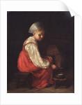 A Peasant Girl with a Calf, 1829 by Alexei Gavrilovich Venetsianov