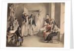 Franz Schubert. Party game of the Schubertians in Atzenbrugg, 1821 by Leopold Kupelwieser