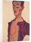 Self-Portrait, Grimacing, 1910 by Egon Schiele