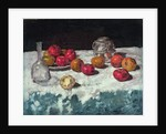Still life with apples, 1889 by Carl Schuch