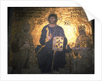Christ Pantocrator between Emperor Constantine IX Monomachus and the Empress Zoe, ca 1020 by Byzantine Master