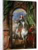 Equestrian portrait of Charles I, King of England  (1600-1649) with M. de St Antoine by Sir Anthonis van Dyck