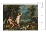 Paradise Landscape with Eve Tempting Adam by Jan Brueghel the Younger