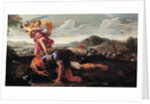 David and Goliath, 1650-1660 by Guillaume Courtois