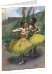 Danseuses jupes jaunes (Deux danseuses en jaune) by Edgar Degas