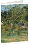 An Orchard under the Church of Bihorel, 1884 by Paul Eugéne Henri Gauguin