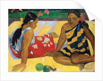 Parau Api. What's new? by Paul Eugene Henri Gauguin