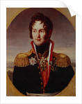 Portrait of Pyotr Alexandrovich Chicherin, 1814 by Robert Lefévre
