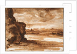 Tiber Landscape North of Rome with Dark Cloudy Sky, Between 1630 and 1640 by Claude Lorrain
