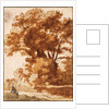 Group of Trees and Resting Sheperd, 1630s by Claude Lorrain
