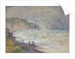 Heavy Sea at Pourville, 1897 by Claude Monet