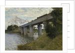 The Railroad bridge in Argenteuil, 1873-1874 by Claude Monet