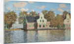 Houses at the bank of the river Zaan, 1871-1872 by Claude Monet