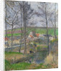 The banks of the Viosne at Osny in grey weather by Camille Pissarro