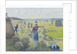 The haymaking, Éragny by Camille Pissarro