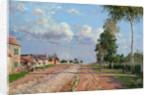 Route de Versailles, Rocquencourt by Camille Pissarro