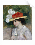 Woman in a Flowered Hat by Pierre-Auguste Renoir