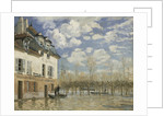 Boat in the Flood at Port Marly, c. 1876 by Alfred Sisley