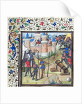 The Siege of Antioch. Miniature from the Historia by William of Tyre by Anonymous