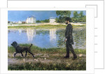 Richard Gallo and His Dog at Petit Gennevilliers by Gustave Caillebotte