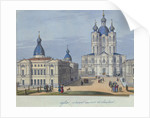 The Smolny Resurrection Cathedral in Saint Petersburg, 1830-1840s by French master