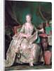 Full-length portrait of the Marquise de Pompadour (1721-1764) by Maurice Quentin de La Tour