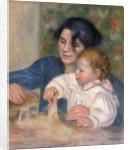 Gabrielle Renard and infant son, Jean by Pierre-Auguste Renoir