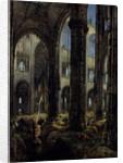 Gothic Church Ruins, 1826 by Carl Blechen