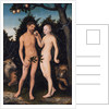 Adam and Eve in paradise (The Fall), 1531 by Lucas Cranach the Elder