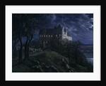 Castle Scharfenberg at Night, 1827 by Ernst Ferdinand Oehme