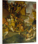 The Taking of Admiral Nils Ehrenskiöld in the Battle of Gangut, Mid of the 18th cen by Robert Carr Porter