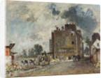 Demolition work in Rue des Francs-Bourgeois-Saint-Marcel, 1868 by Johan Barthold Jongkind