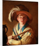 The flute player, 1621 by Abraham Bloemaert