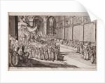 A scene at the royal court of Tsar Alexis Mikhailovich, 1677 by Romeyn de Hooghe
