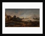 River view by moonlight, c. 1645 by Aert van der Neer