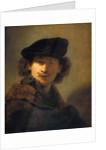 Self-Portrait with Velvet Beret by Rembrandt (Rembrandt van Rijn)